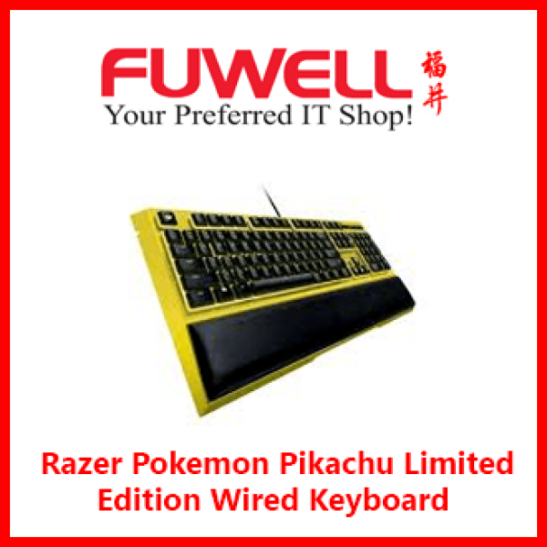 Original Razer Pokemon Pikachu Limited Edition Wired Keyboard For PC Laptop Computer [ RZ03-02043700-R3D1 ] [ 2Years ] Singapore