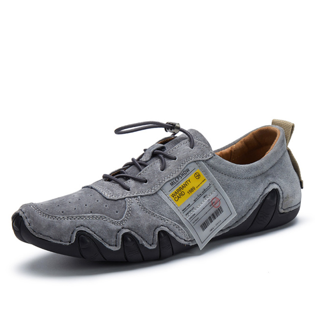 Giày Nam Huili Giày Thời Trang Mùa Hè Giày Tods Phong Cách Hàn Quốc Mẫu Mới Mặt Lưới Giày Da Thật Giày Trượt Ván Thường Ngày Cho Nam Xỏ Chân giá rẻ