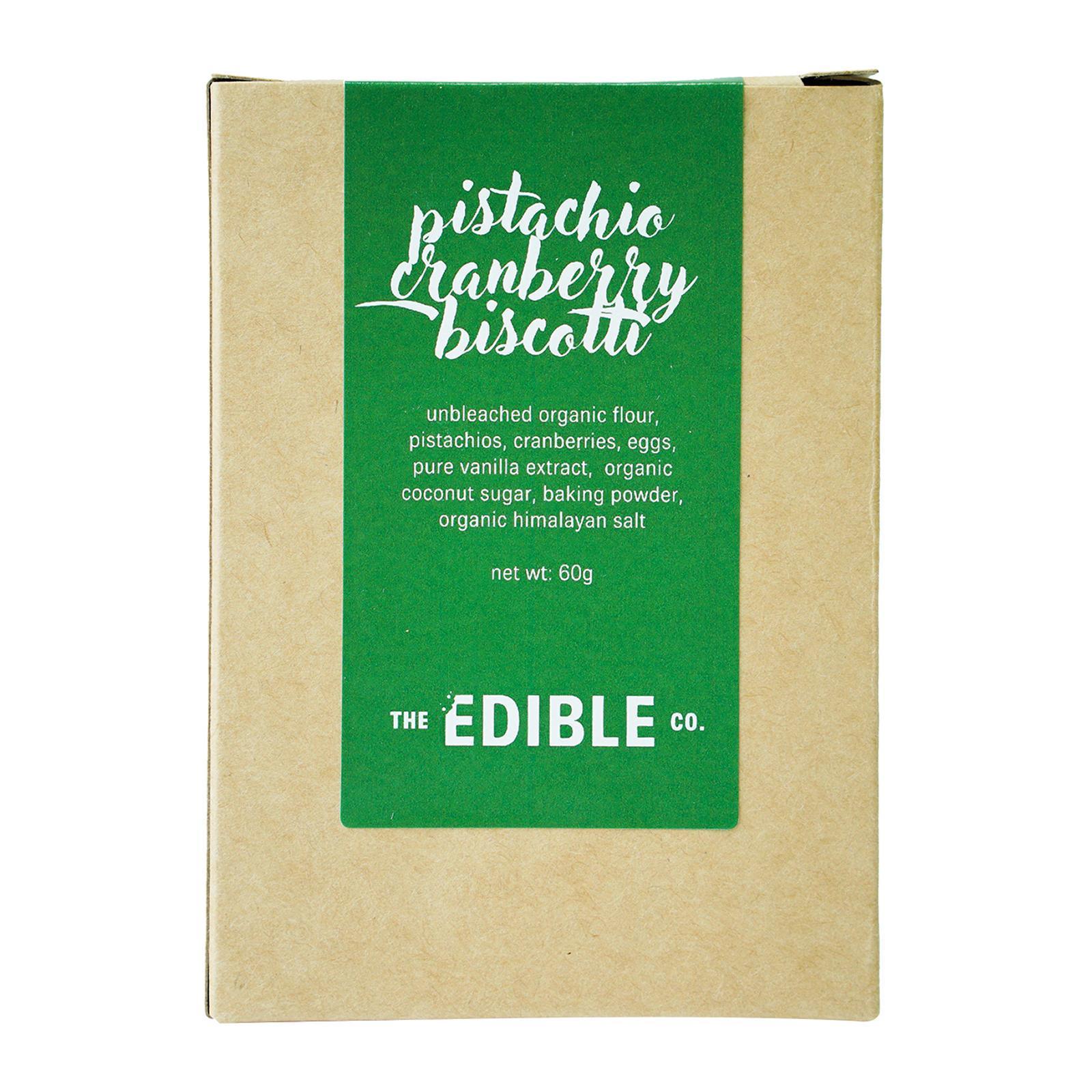 The Edible Co Pistachio Cranberry Biscotti