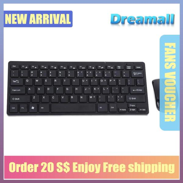 {Hot Sale Festival}Dreamall Mini Thin 2.4G Wireless Keyboard and Optical Mouse Combo Kit for Desktop PC Singapore