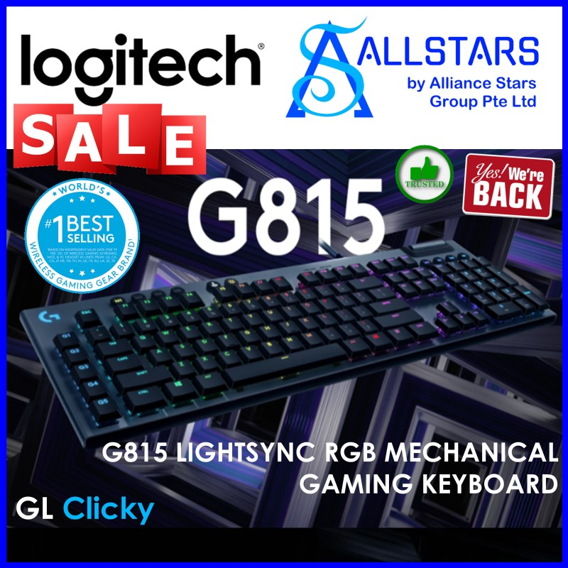 (ALLSTARS : We are Back / Gaming PROMO) Logitech G815 Mechanical Keyboard (CLICKY) (920-009224) (Warranty 2years with Local Distributor BanLeong) Singapore
