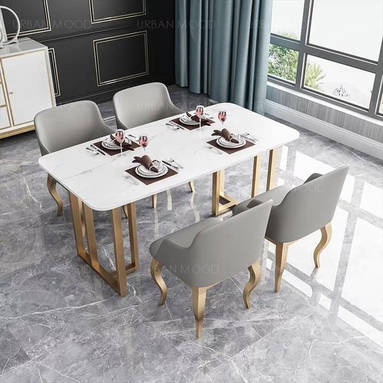 BELLE Marble Gold Dining Table