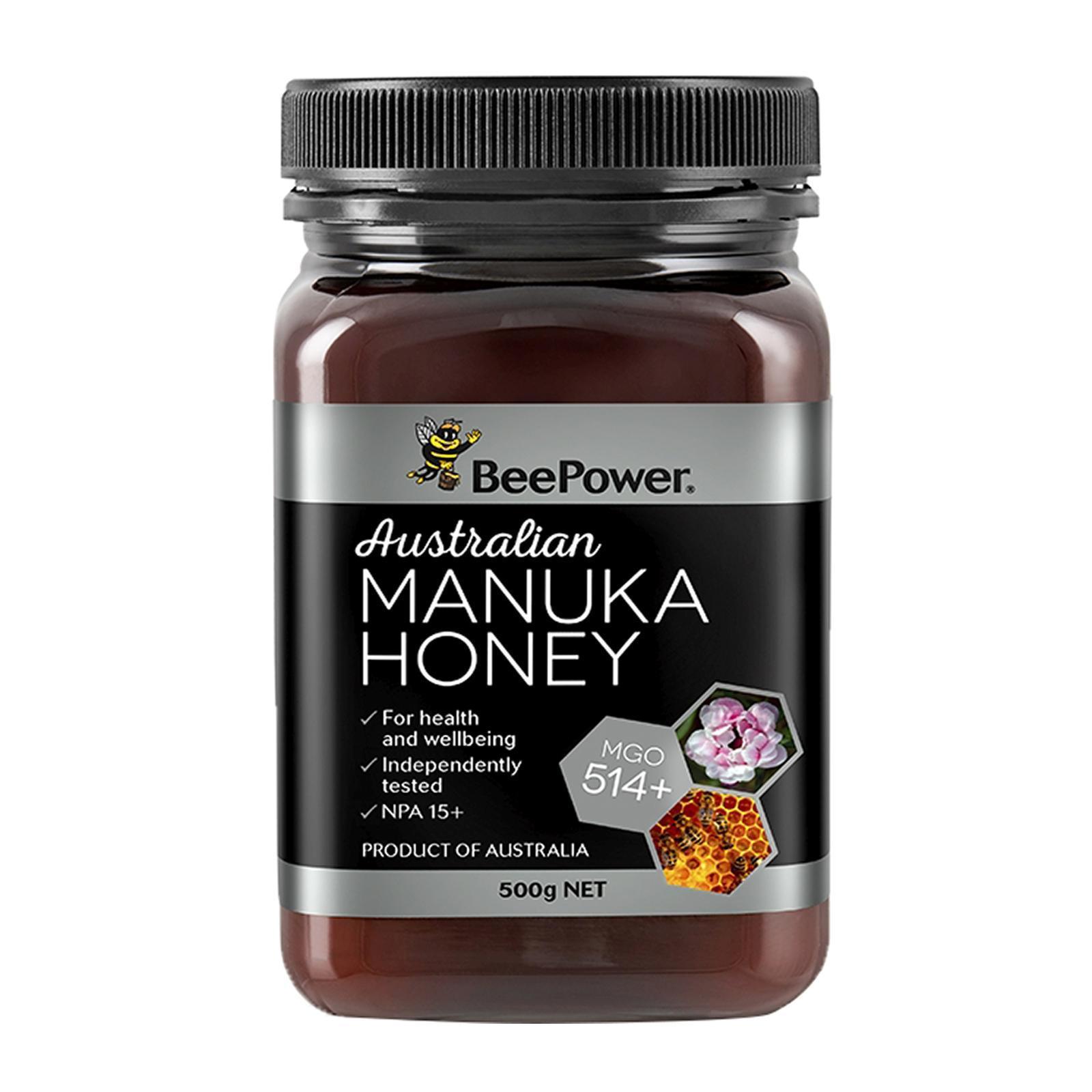BeePower Australian Manuka Honey MGO 514+ - By Nature's Nutrition