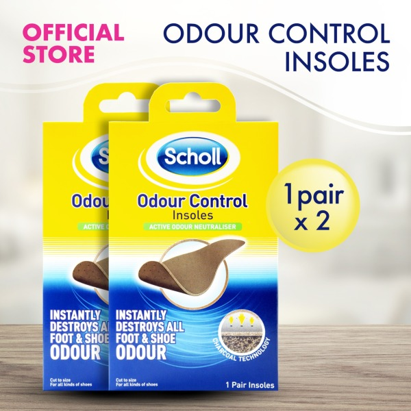 Buy 2 Packs of Scholl Insoles for Odour Control Singapore