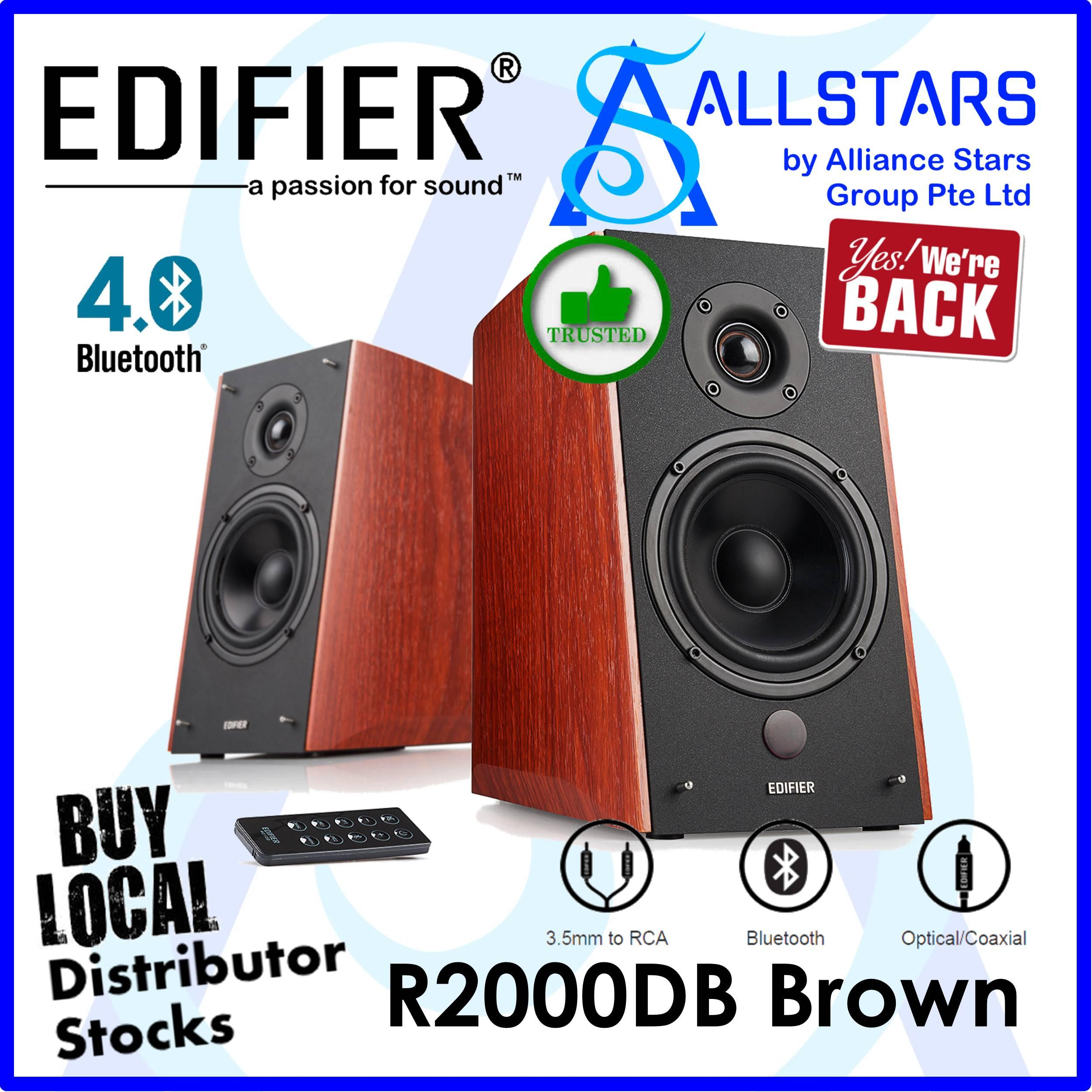 (ALLSTARS : We are Back / SITEX2019 / Black Friday / Cyber Monday / 12.12 PROMO : Edifier R2000DB 2.0 Bookshelf Speaker / Bluetooth (Color : BROWN / 120W) (Warranty : 2years with Local Distributor BanLeong)