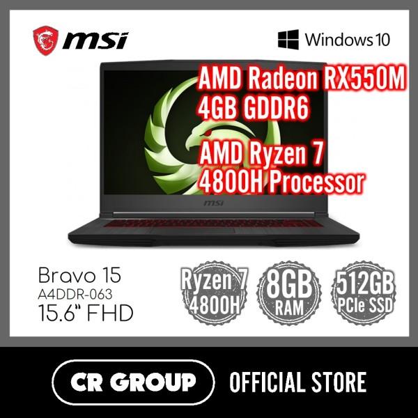 MSI Bravo 15 A4DDR-063 15.6 Inch FHD | AMD Ryzen7 4800H | AMD Radeon RX5500M 4GB GDDR6 | 8GB DDR4 RAM | 512GB PCle SSD