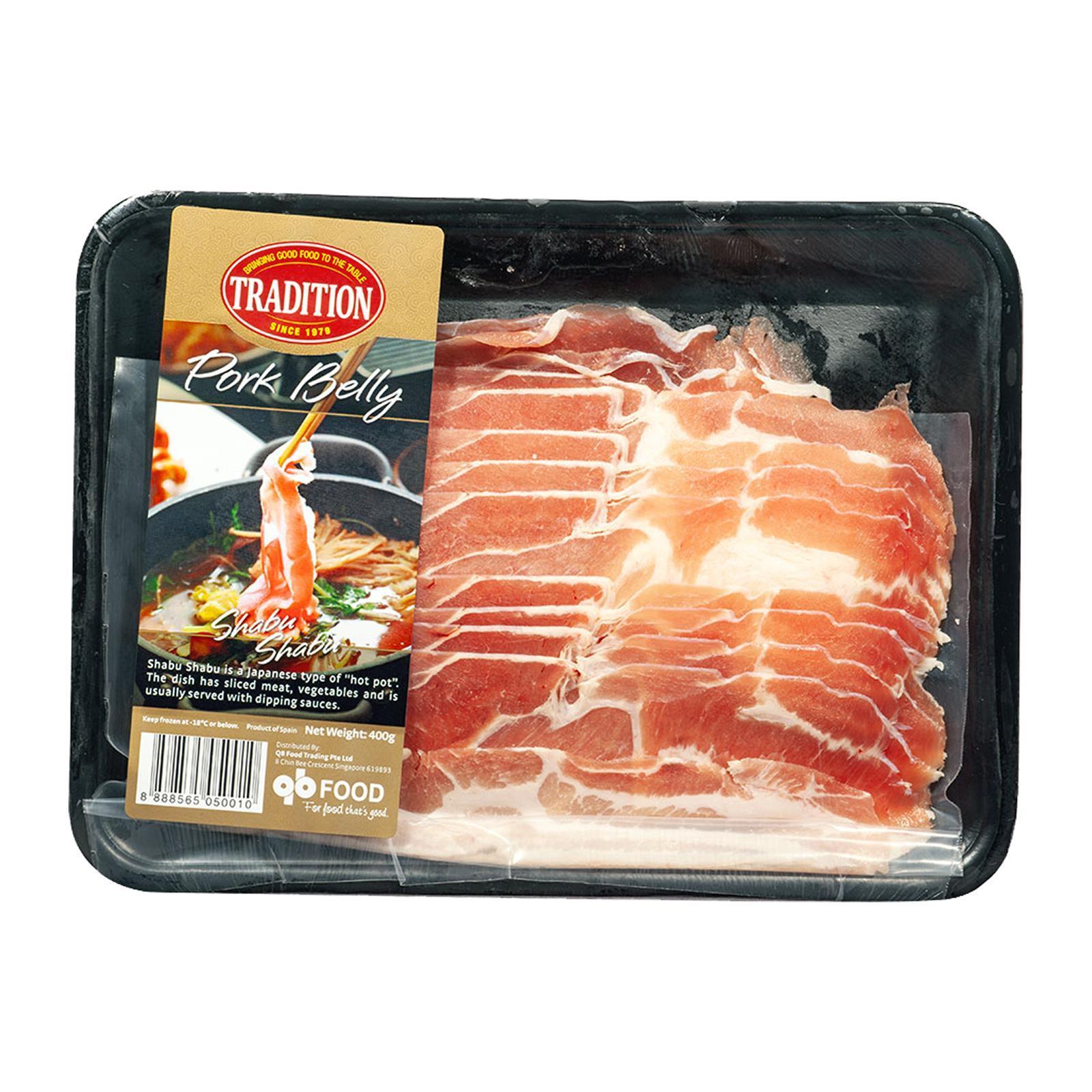 Tradition Spanish Pork Belly Shabu Shabu - Frozen