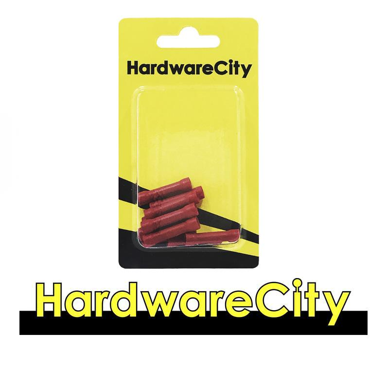 HardwareCity Insulated Crimp Parallel Connectors, Red (22AWG - 16AWG), 10PC/Pack