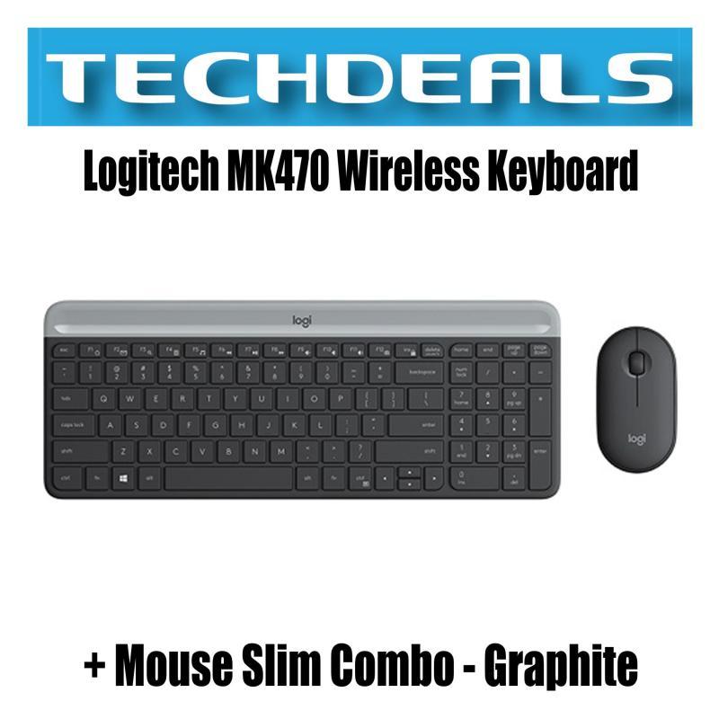 Logitech MK470 Wireless Keyboard + Mouse Slim Combo | Graphite | White Singapore