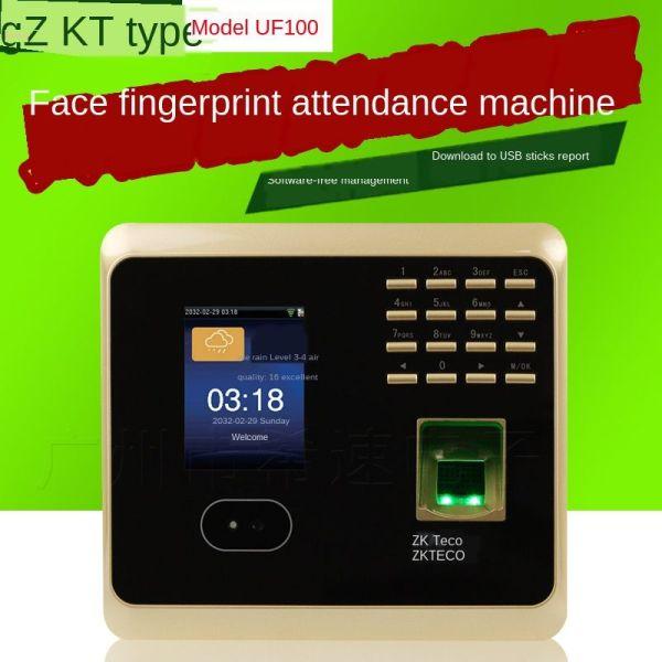 central zkteco control intelligent face recognition attendance machine fingerprint card punching
