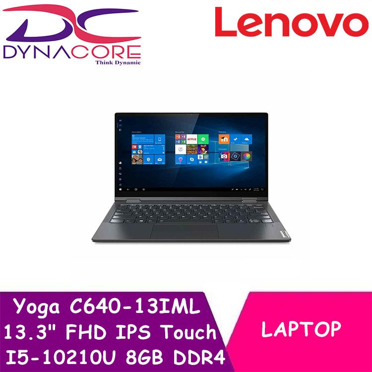 DYNACORE - LENOVO Yoga C640-13IML 81UE000ASB 13.3 Inch FHD IPS Touch 300N/ I5-10210U / 8GB DDR4 / 512G M2 PCIE SSD / WIN 10
