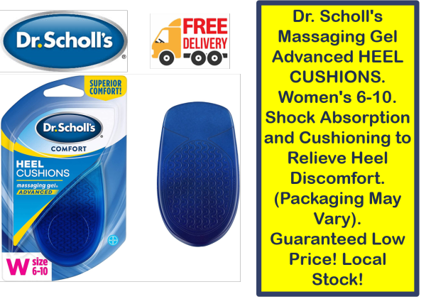 Buy Dr. Scholls Massaging Gel Advanced HEEL CUSHIONS. Womens 6-10. Shock Absorption and Cushioning to Relieve Heel Discomfort. (Packaging May Vary). Guaranteed Low Price! Local Stock! Singapore