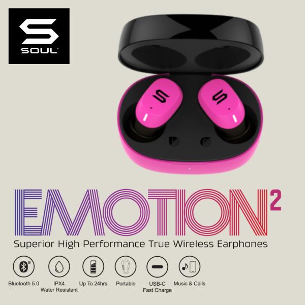 SOUL Emotion 2 True Wireless In-Ear Earbuds (Bluetooth 5.0) - Shocking Pink Singapore