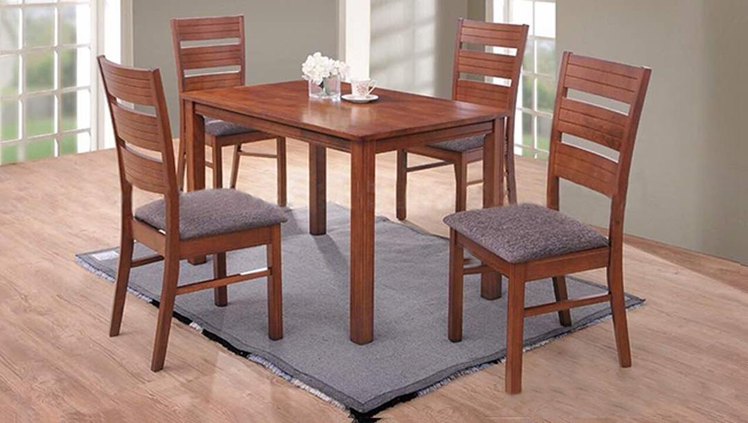 [A-Star] LINE Dining Set with cushion (1+4) Free Install!