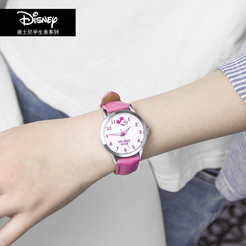 Disney jam tangan anak-anak anak perempuan Imut Bercahaya Tahan Air fashion populer minimalis siswa