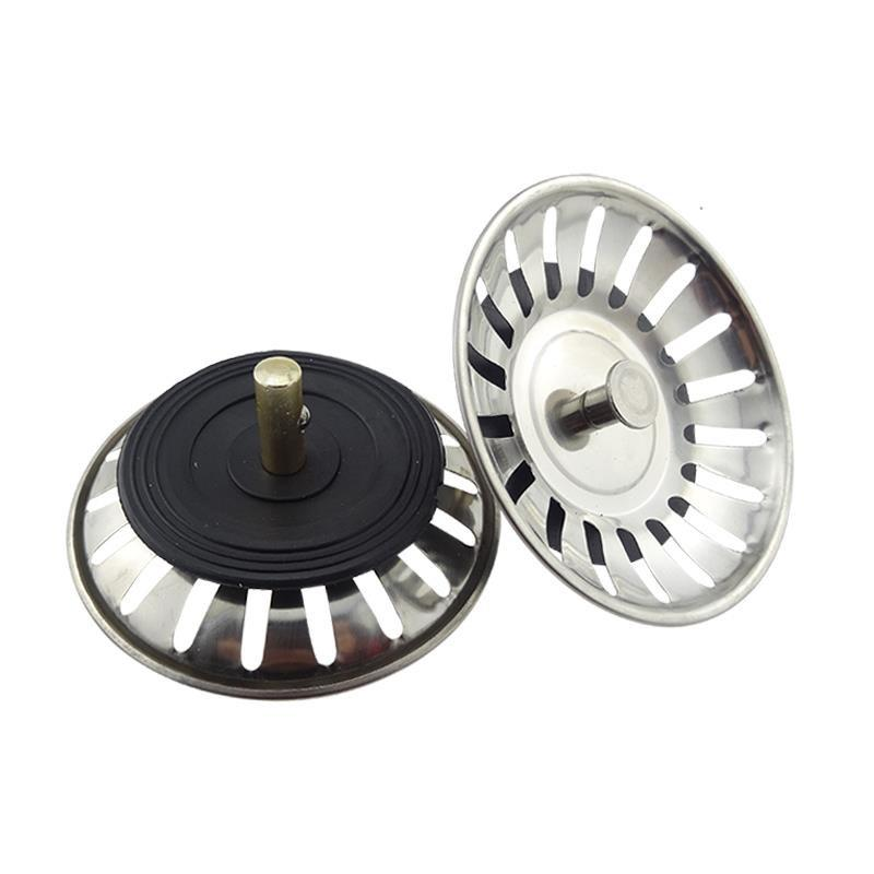 Sealing Plug Sewer Old-Fashioned Circle Pool Washing Kitchen Sink Basket Sewer Tube Sink Stainless Steel Plug Cover Universal By Taobao Collection.