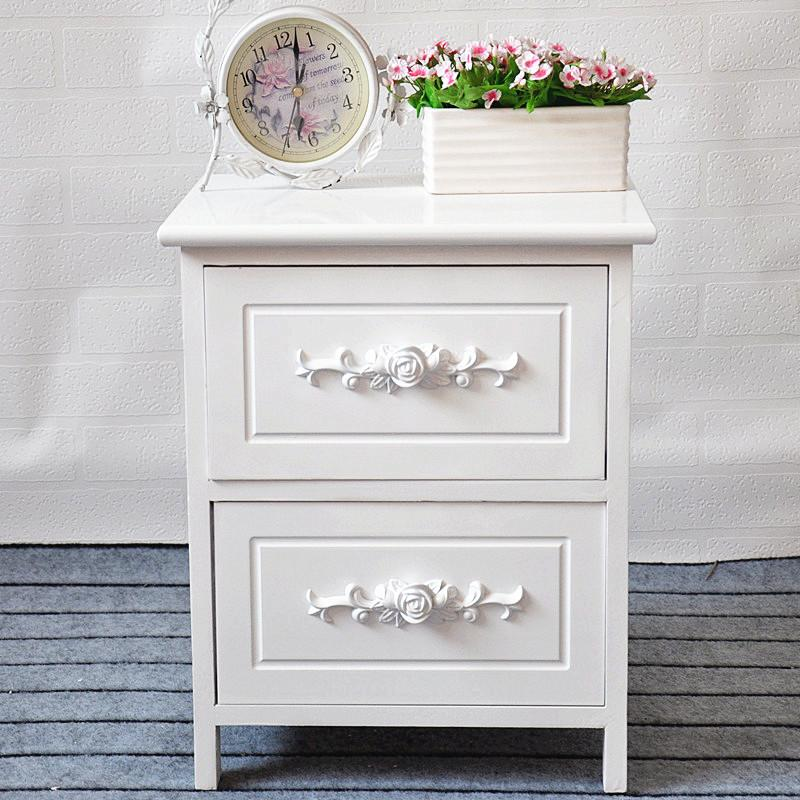 Solid Wood Storage Cabinets Drawer-type between Cabinet White Combination Chest of Drawers Multilayer Bedroom Living Room Interlocking Storage Bed Side Cabinet