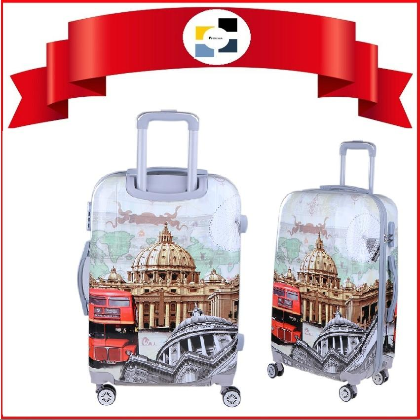 Luggage. Polo City. Many printed designs to choose from. Available in 20 OR 24 OR 28 OR Set of 3 Pcs. Hard Case. 4 Wheel Movement. Comes with inline lock system. Local SG Seller. Assorted Printed Designs.