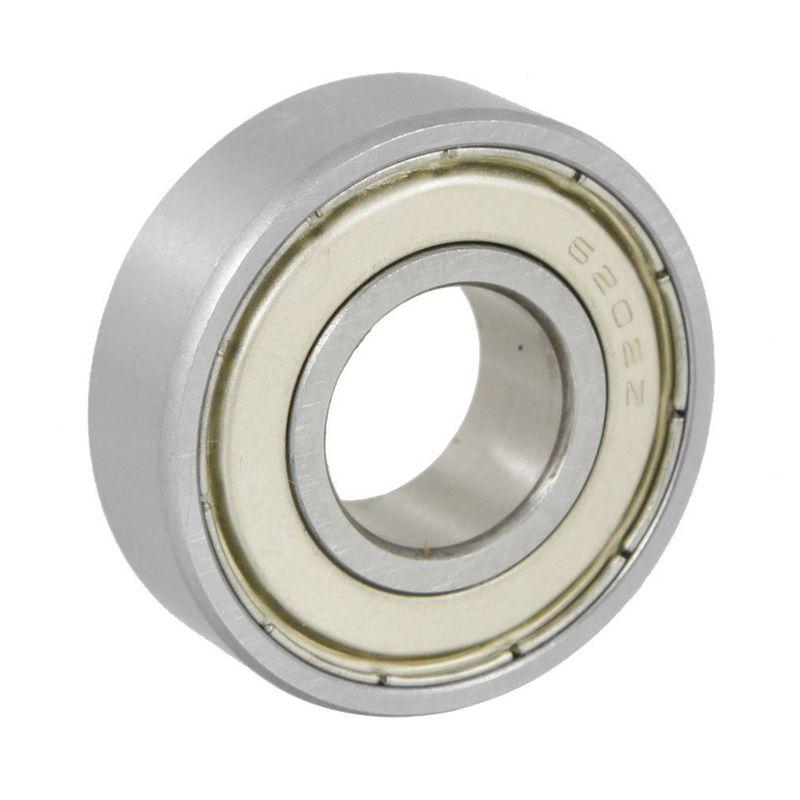 15x35x11mm Shielded Miniature Deep Groove Ball Radial 6202Z Ball Bearing Silver + White