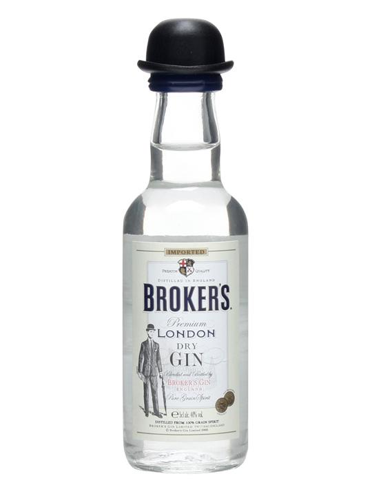 Brokers London Dry Gin 50ml Miniature By Mini Collector.