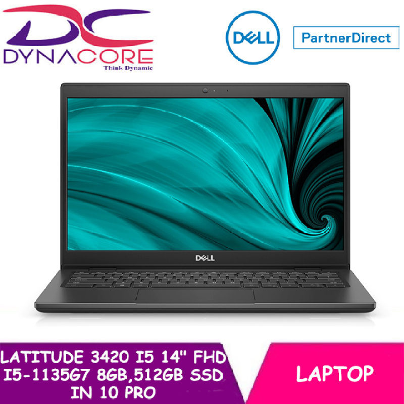 DYNACORE - DELL LATITUDE 3420 BUSINESS MODEL14 FHD (i5-1135G7 | 8GB MEMORY | 512GB SSD | WIN 10 PRO | 3YEARS ON-SITE WARRANTY BY DELL)