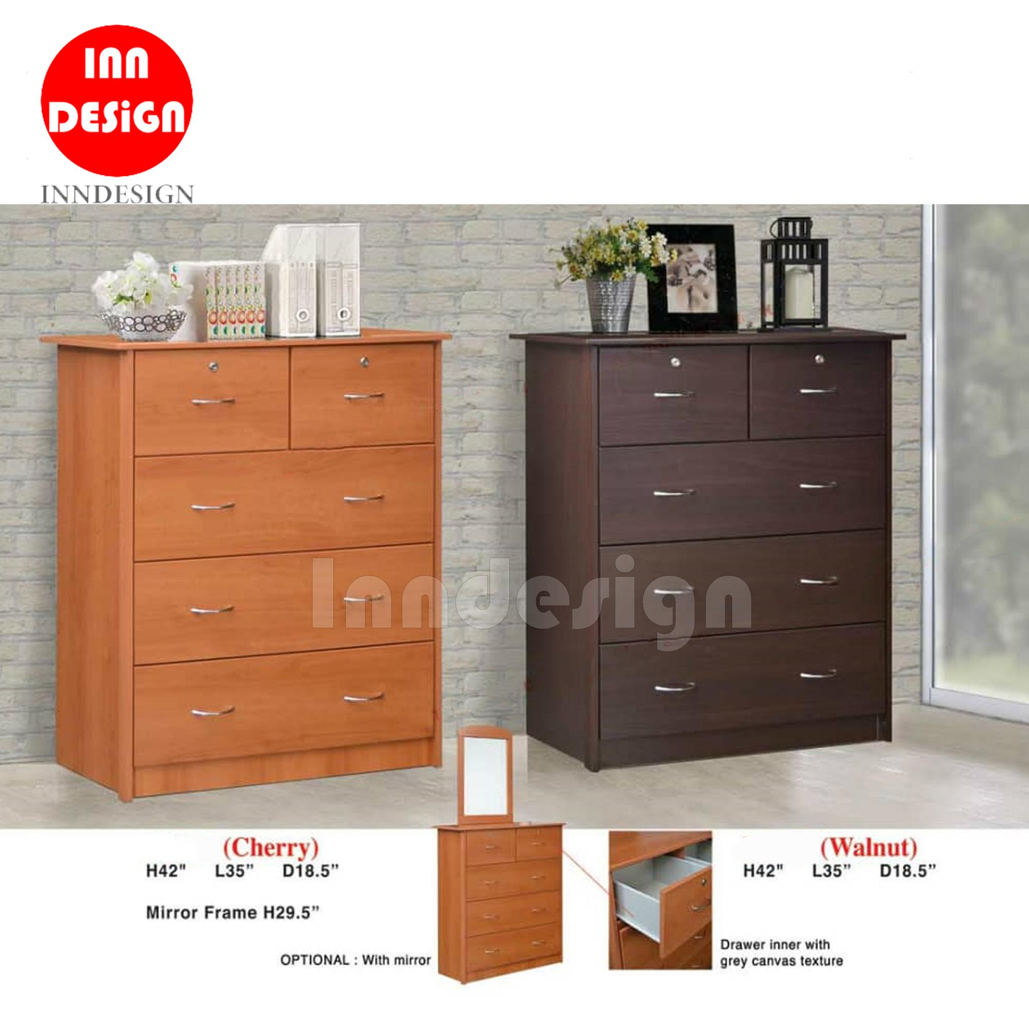Den Chest of 4 Drawers (Free Installation & Deliver within 2 Days)