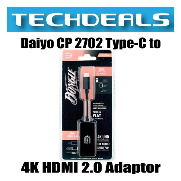 Daiyo CP 2702 Type-C to 4K HDMI 2.0 Adaptor