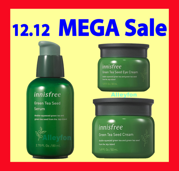 Buy INNISFREE Green Tea Seed Serum OR Seed Cream OR Eye Cream / From KOREA / More Discount with Bundle PROMO / Hydration & anti-oxidants from a blend of Jeju green tea extract & seed oil help replenish skin moisture with a healthy glow. Singapore