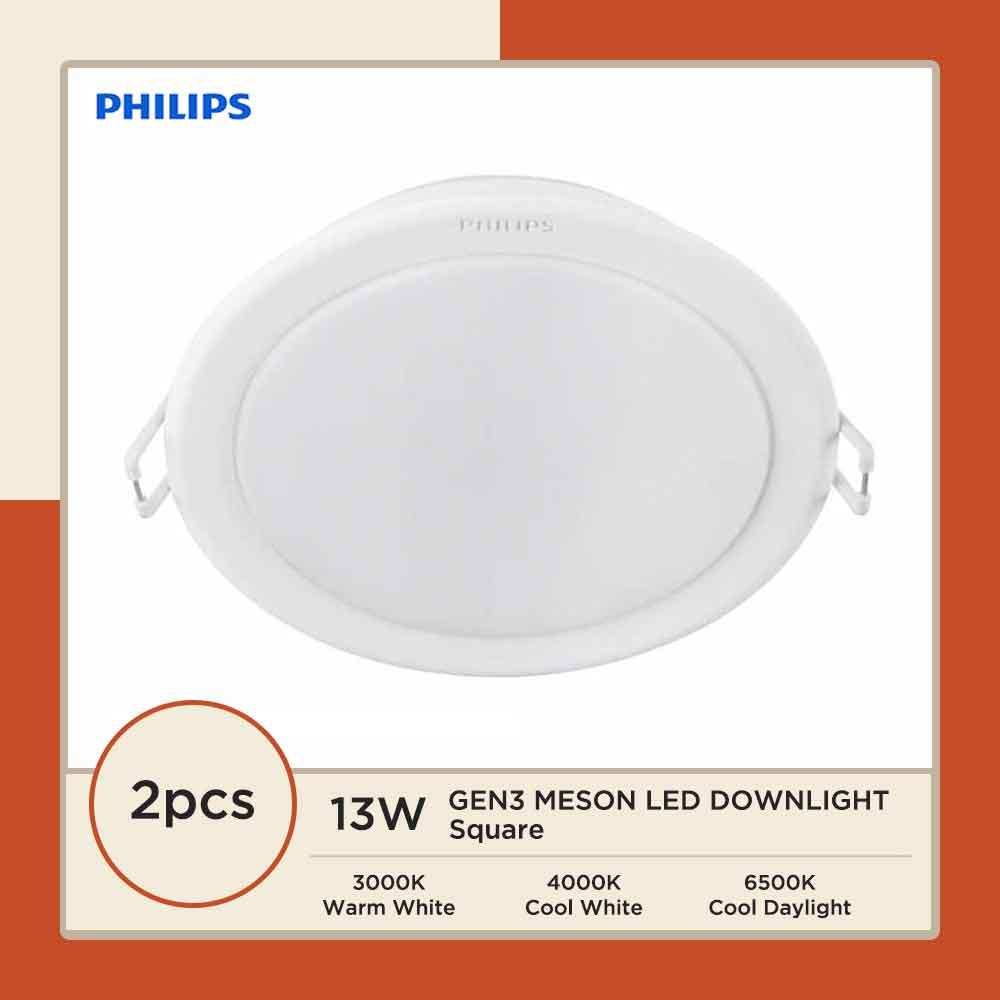 2PCS PHILIPS 59464/5 MESON 5 13W LED DOWNLIGHT (ROUND/SQUARE)