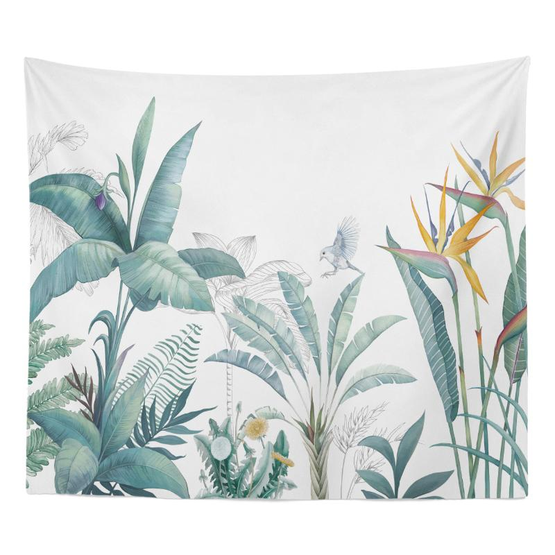 Green Vegetation Fabric Tapestry Online Celebrity Photo Taking Background Cloth Sofa Wall Paintings Bedroom Bedside Large Cloth Wall Hangers