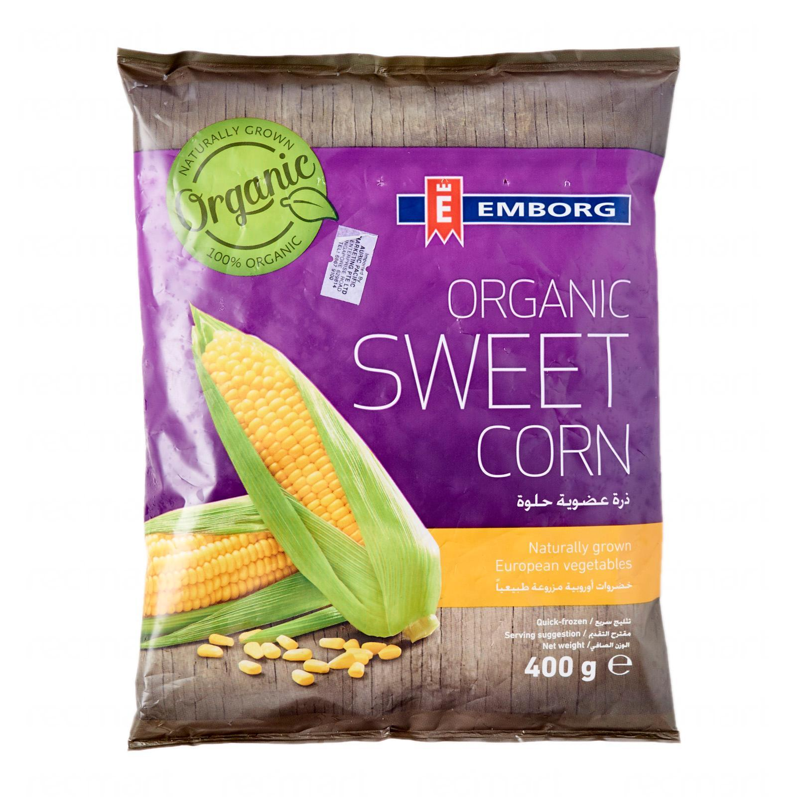 [expiring 9 June 2019] Emborg Organic Sweet Corn - Frozen By Redmart.