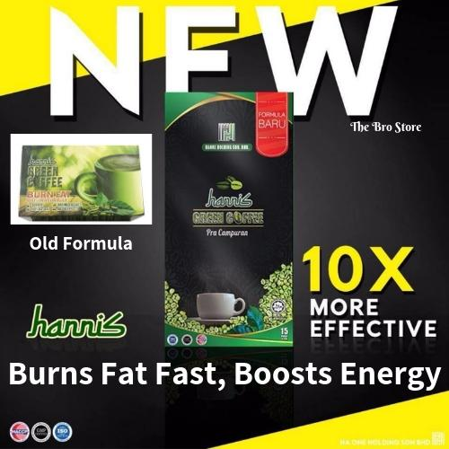 New Improved Formula! Hannis Green Coffee 10x More Effective (natural Safe Slimming Fat Burning Diet Detox Weight Loss) (15 Sachets) By The Bro Store.
