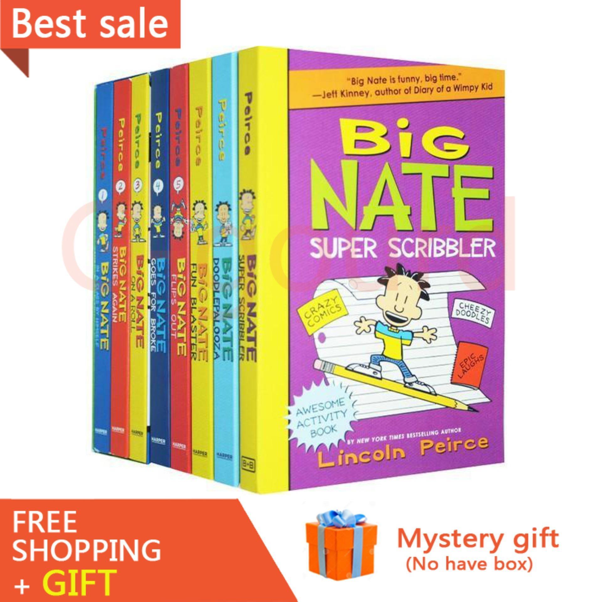 (new arrival)Big Nate Triple Play Box Set 8 books