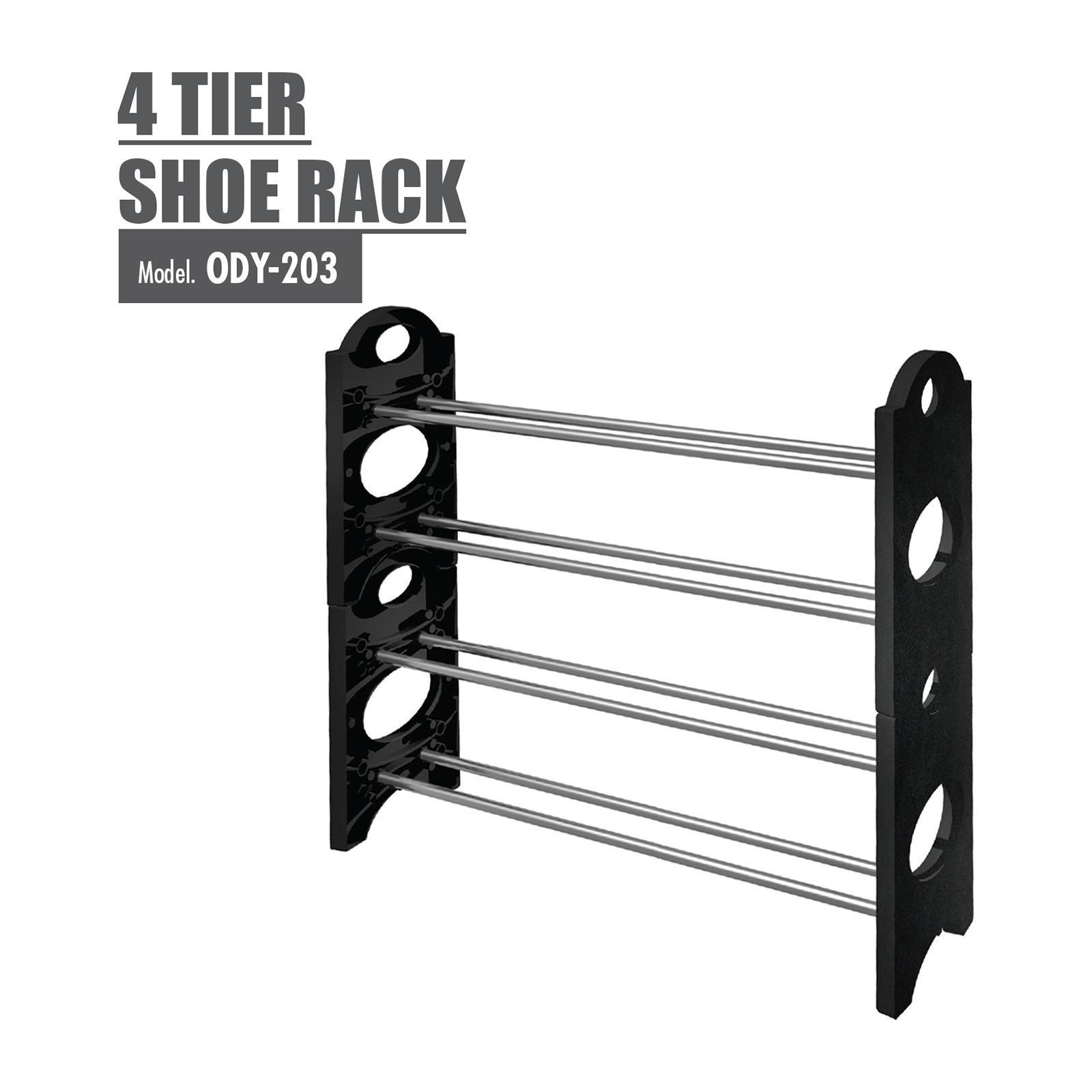 HOUZE 4 Tier Shoe Rack