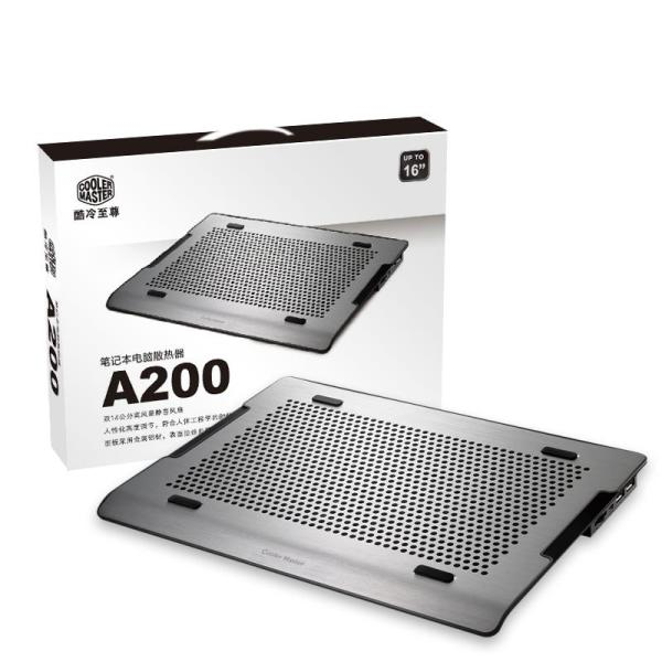 Cooler Master A200 Laptop Radiator 14-Inch 15.6-Inch Mute Pure Aluminium Wire Drawing Breadboard Cooling Pad Holder