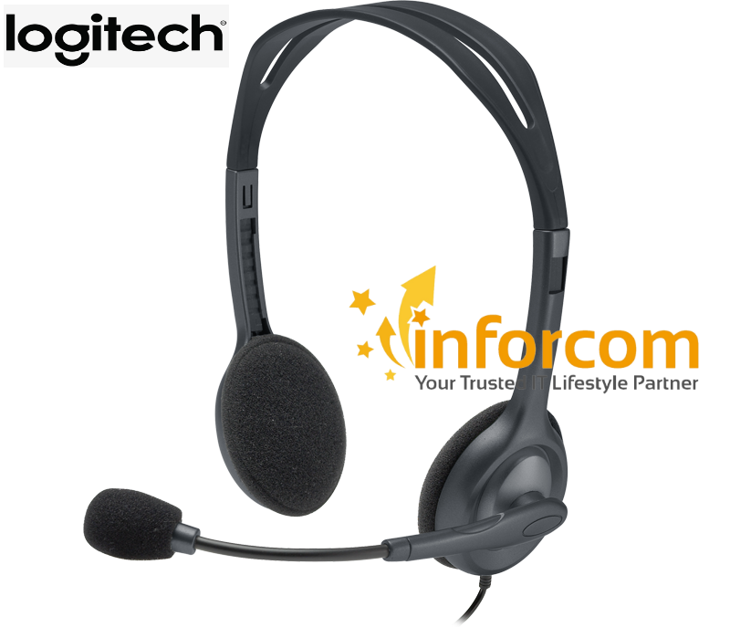 Logitech H111 Stereo 3.5mm Multi-Device Headset with Microphone Singapore