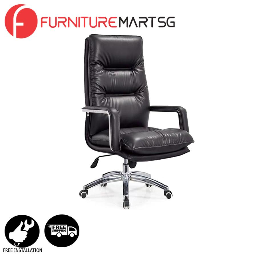 [FurnitureMartSG] Amos Office Chair in Black_FREE DELIVERY + FREE INSTALLATION