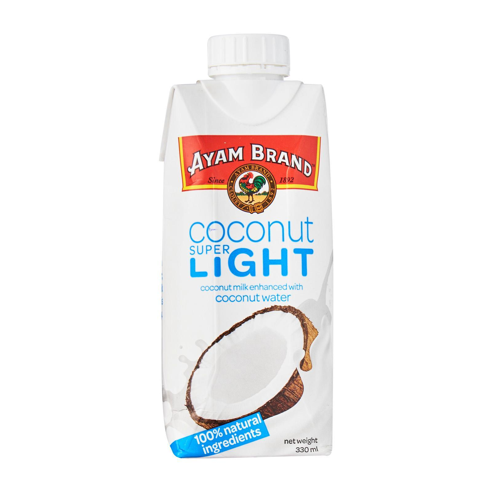 Ayam Brand Coconut Milk Super Light (5 Percent Fat Enhanced With Coconut Water)