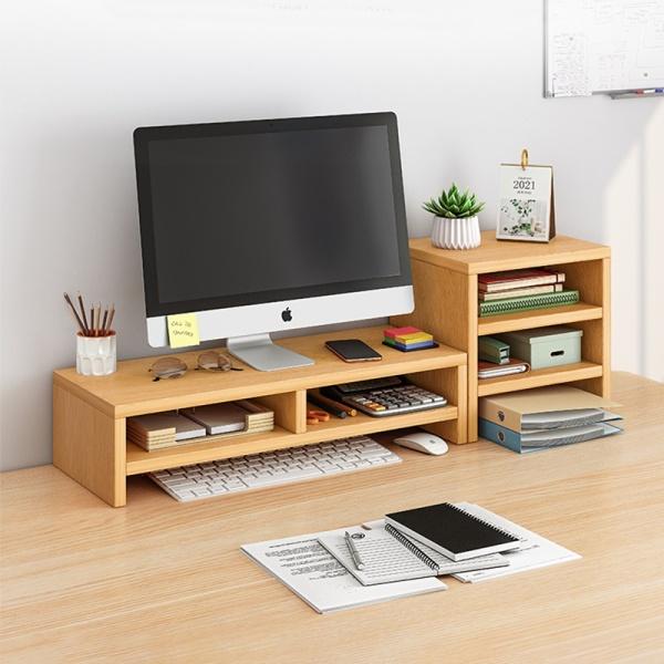 (SG SELLER) Monitor stand/shelf/dual/keyboard storage/Computer Accessories/Posture Correction/Vertebrae