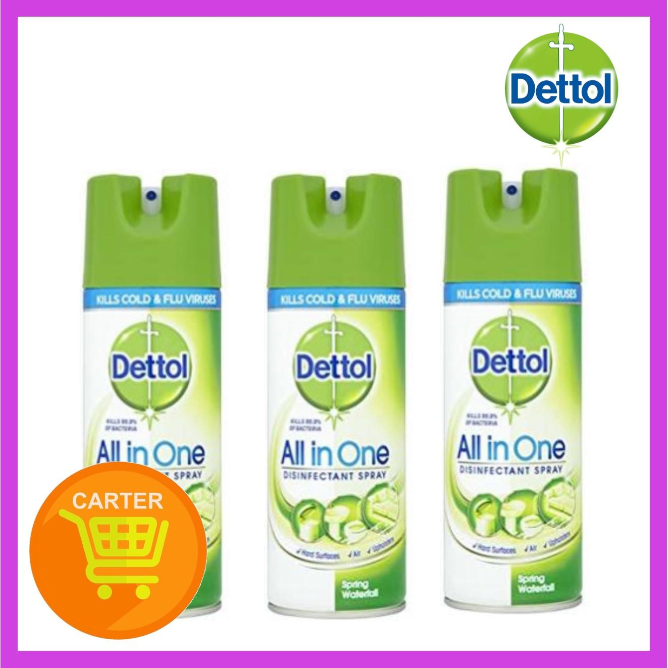 DETTOL DISINFECT SPRAY SPRING WATERWALL 400ml x (3 Pack)