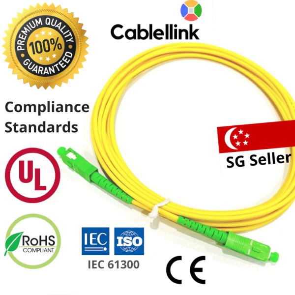 Fibre (Fiber) Optic Cable 2/3/4/5/10/15/18/20/30/50M Certified UL / CE / ISO / IEC / ROHS Compliant
