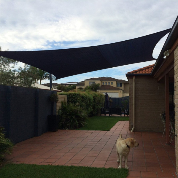 2x4m Rectangle Waterproof Sun Shade Sail Awning Canopy 90% UV Blocking Outdoor Garden Sun Shelter UV Protection Oxford Fabric