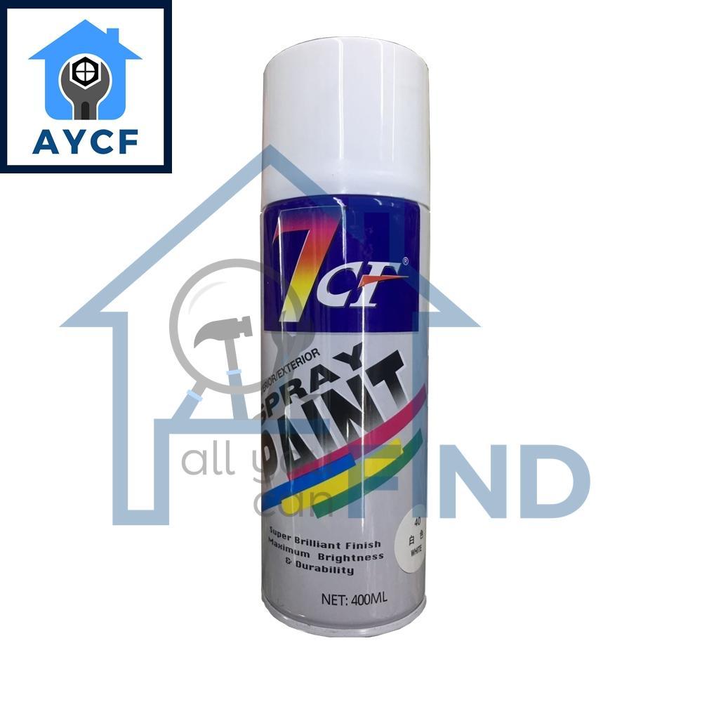 (BUNDLE OF 12) 7CF Interior / Exterior Spray Paint 400ml -White
