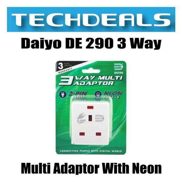 Daiyo DE 290 3 Way Multi Adaptor With Neon