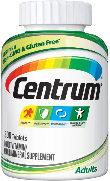 Buy Centrum Adult Multivitamin 300 Caps Exp Feb 2022 with Antioxidants, Zinc and B Vitamins Singapore