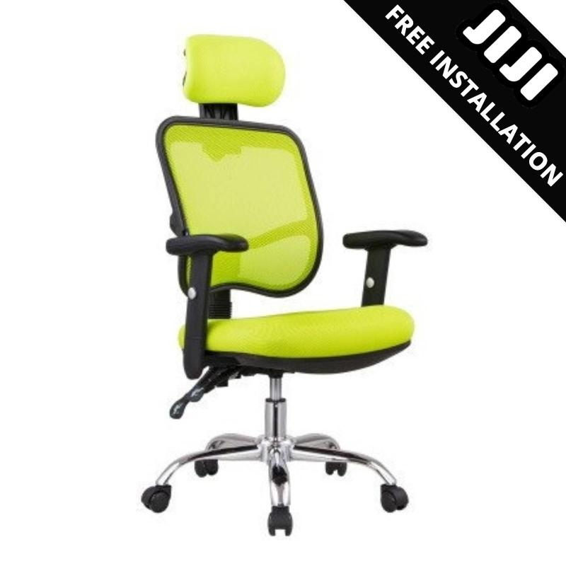 JIJI Office Executive Chair Ver 1 Adjustable ArmRest (Free Installation) - Home Office Chair/ Office chairs /Study chair/Gaming chair/Ergonomic/ Free 12 Months Warranty (SG) Singapore