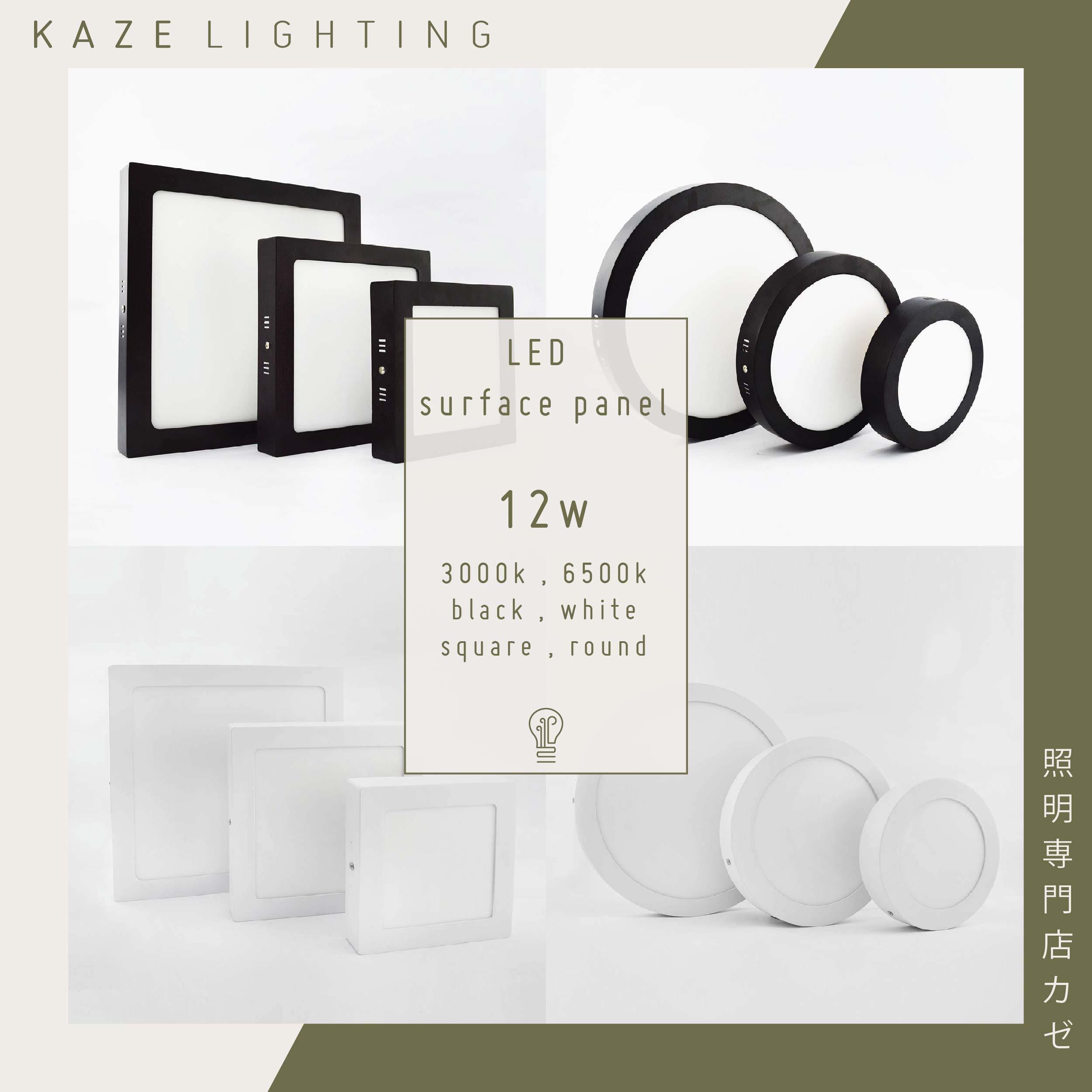 LED Surface Mount Panel Ceiling Light 12w