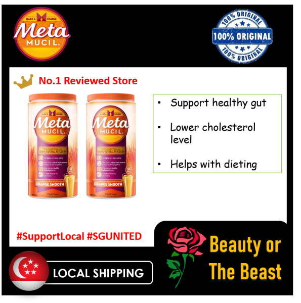Buy [100% authentic][Twin pack] Metamucil Smooth Orange - 114 Dose Multi-Health Fibre 673g X 2 [BeautyBeast] Singapore