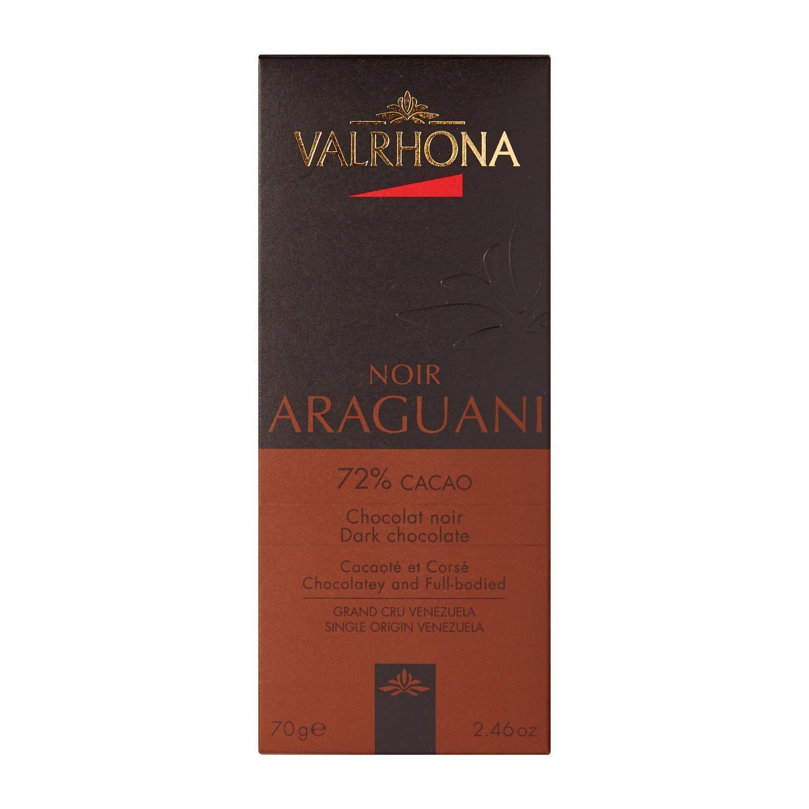 Valrhona Dark Araguani 72% Chocolate Bar