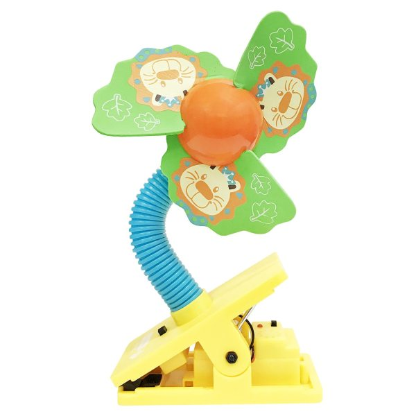 Lucky Baby Mini Safety Clip on Fan W/Ultrasonic Mosquito Repellent - Lion Singapore